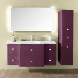 meuble de salle de bains aubergine 130 cm meltem castorama