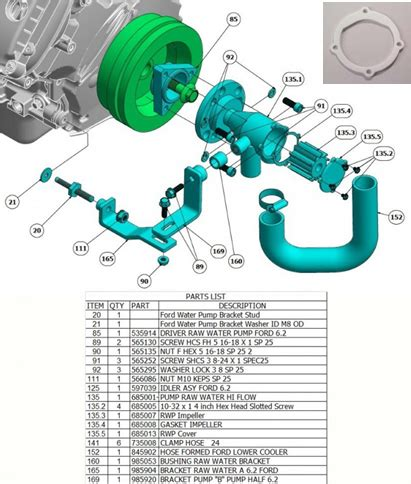 This Indmar Gasket Impeller Fits Almost All Indmar Marine