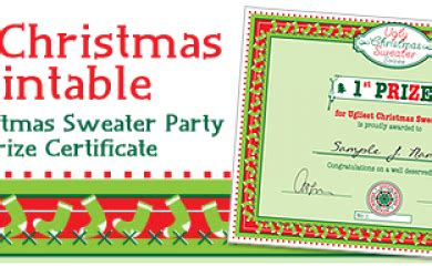 printable ugly sweater certificate no download simplicity free printable archives simplicity