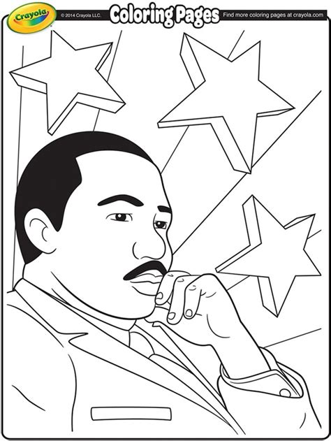 coloring pages about martin luther king jr martin luther king jr coloring page crayola com