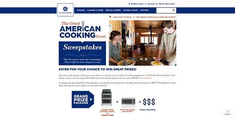 American Sweepstakes Network - ge appliances great american cooking event sweepstakes