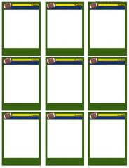 soccer trading card template football card templates free blank printable customize