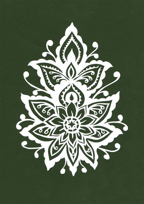 Simple Paper Cutting Designs Patterns - pattern cut with