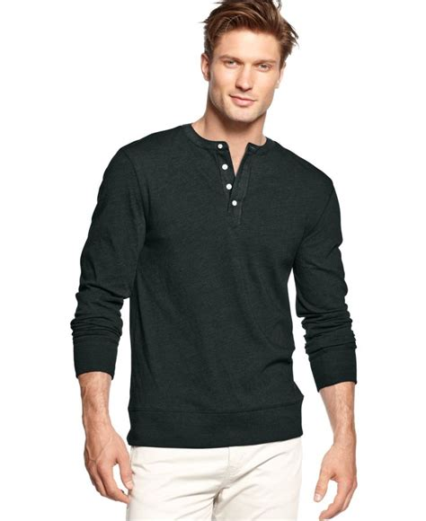 club room solid henley shirt shorts macy s