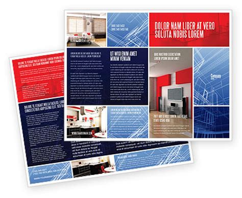 3d brochure template interior design in 3d modeling brochure template design