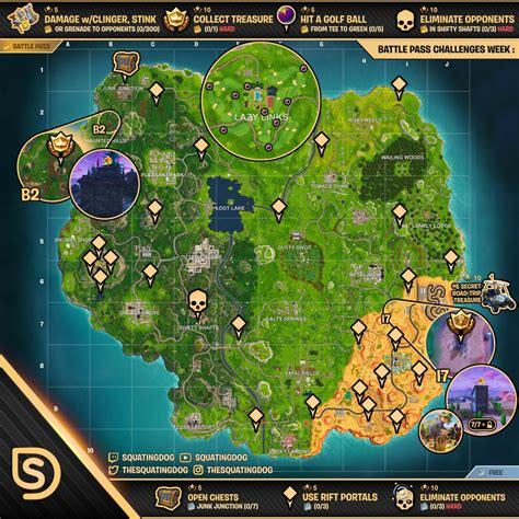 fortnite week 5 challenges sheet map for fortnite battle royale season 5 week