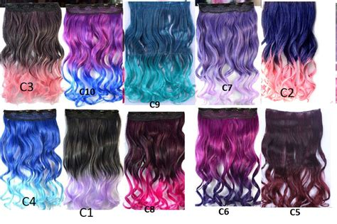 Jual Hairclip Ombre Curly Banyak Warna Hair Clip Korea Murah 201 jual hair clip extension rambut palsu big single layer curly gradasi ombre fialena shop