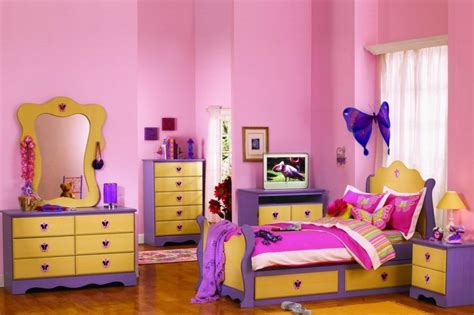 pink and purple bedroom decor interior design the lovely pink yellow purple in one