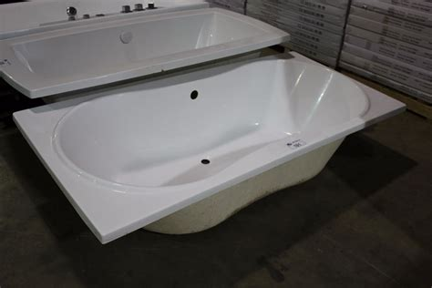 Large Drop In Tub Large White Rounded Drop In Soaker Tub