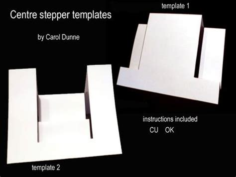 centre stepper card template a4 centre stepper templates cup264070 173 craftsuprint