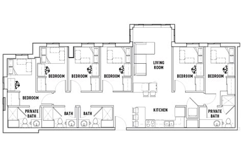 student housing floor plans 6 bed 4 bath landmark student housing ann arbor mi