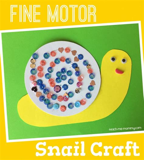 craft activity for motor snail craft teach me