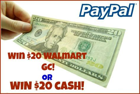 Walmart Gift Card Paypal - win a 20 walmart gift card or paypal cash ends 11 8 open ww miss molly says