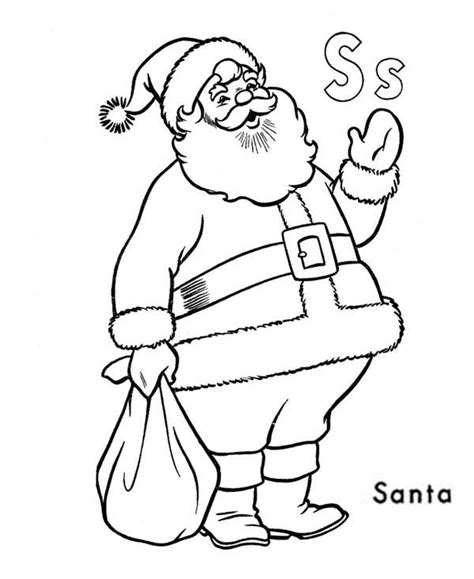 santa s view coloring book for everyone books learn alphabet letter s for santa claus coloring page