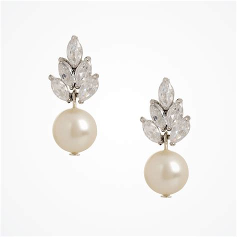 vintage pearl drop earrings bocheron pearl earrings