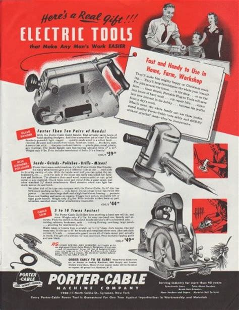 1948 Porter Cable Vintage Ad Quot Here S A Real Gift Quot