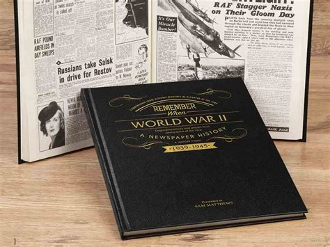 world war 2 in pictures book personalised world war ii history book historic newspapers