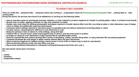 Experience Letter Hospital Administrator Work Experience Letter Year 10 10 Exles Of Work