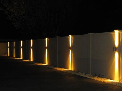 lights on fence ideas best 25 fence lighting ideas on fence