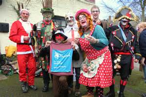 Wantage mummers lively performers of a local traditional mumming play