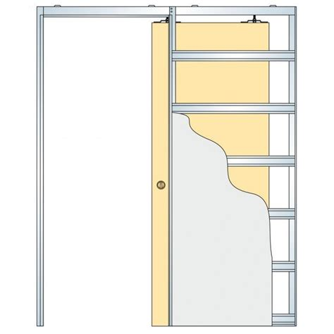 eclisse glass sliding pocket door system single door kit supplied with glass door 125mm