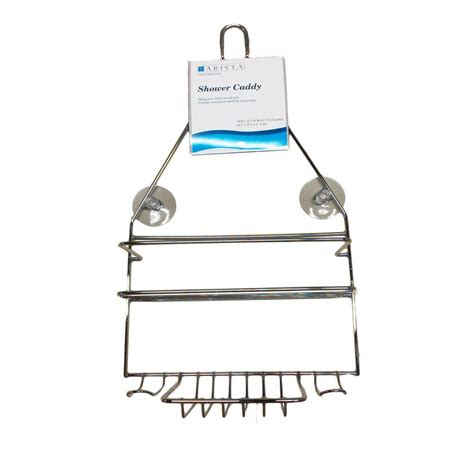 Hanging Shower Caddy by Arista Hanging The Shower Caddy In Chrome Sc01ch The Home Depot