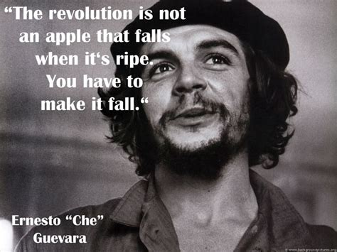 che guevara a revolutionary 0553406647 quot the revolution is not an apple that falls when it is ripe you have to make it fall