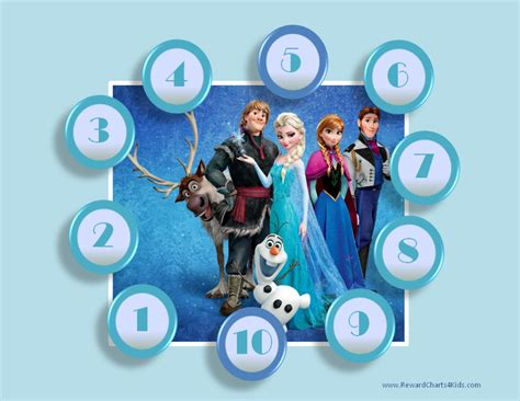printable frozen sticker chart frozen sticker charts