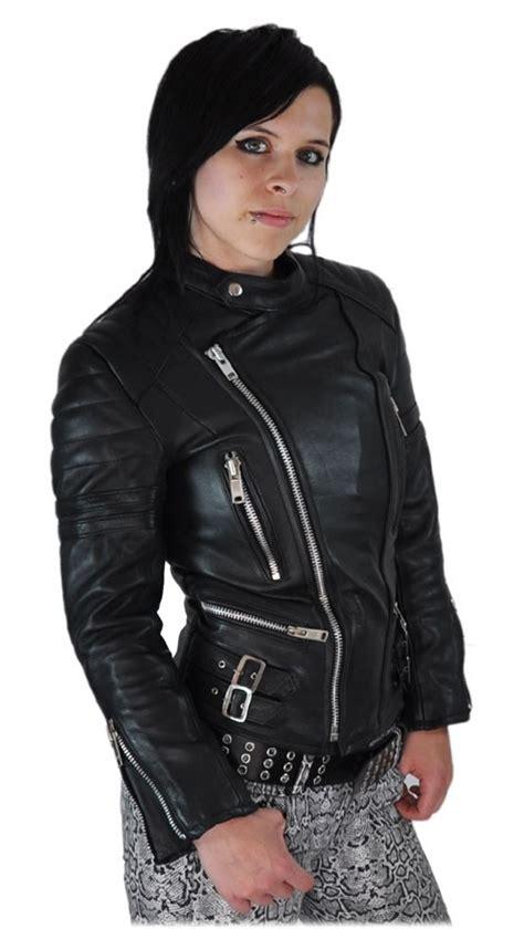 Motorrad Lederjacke Damen übergröße by Damen Retro Motorradjacke Lederjacke Schwarz