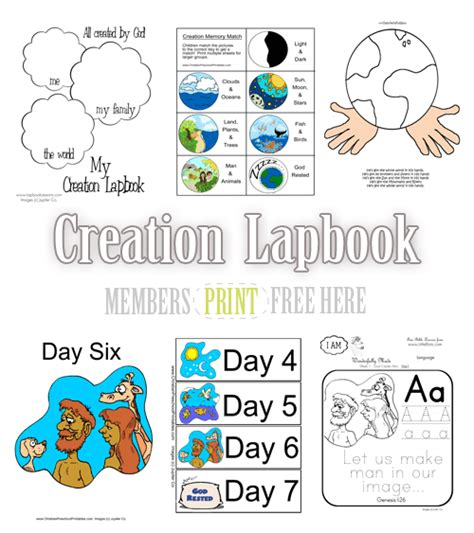 creation story for kids book free creation lapbook
