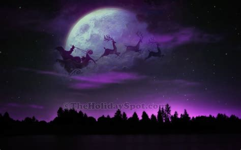 santa  sleigh  reindeer wallpapers