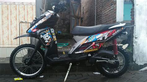 Covertutup As Belakang Yamaha Matic Chrome matic trail vlog yamaha x ride ttx modif trail
