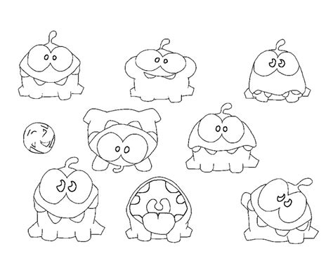 cut the rope om nom free coloring pages