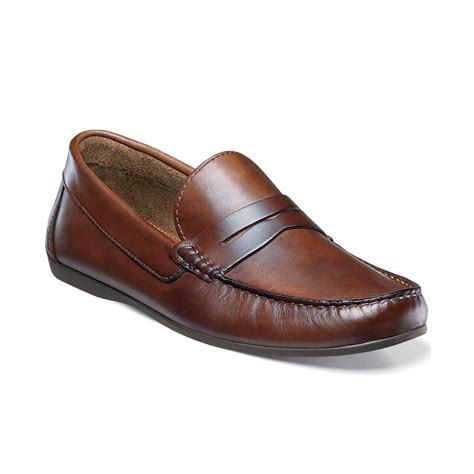 brown loafers florsheim jasper loafers in brown for lyst