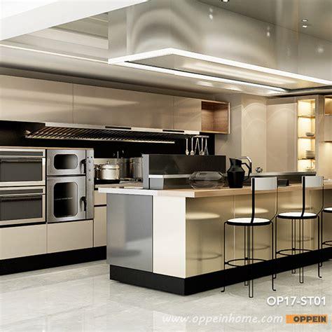 colored stainless steel colored stainless steel kitchen cabinet oppeinhome