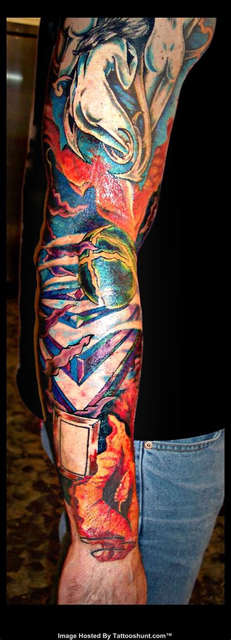 colorful sleeve tattoos abstract tattoos and designs page 232
