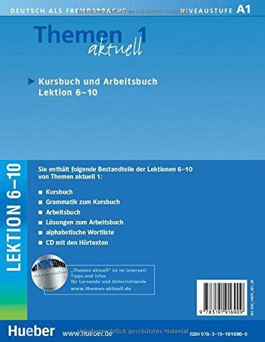 libro themen aktuell 1 kursbuch libro themen aktuell 1 kursbuch und arbeitsbuch lektion