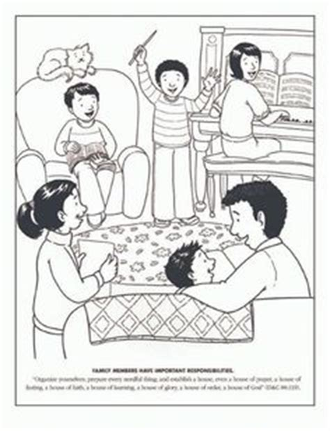 Family Home Evening Clipart by Coloring Pages On Coloring Pages Mandala