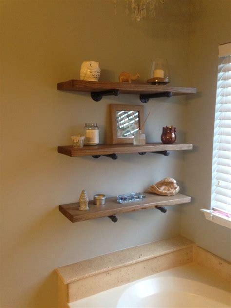 Restoration Hardware Bathroom Shelves by Our Diy Restoration Hardware Shelves For Our Bathroom
