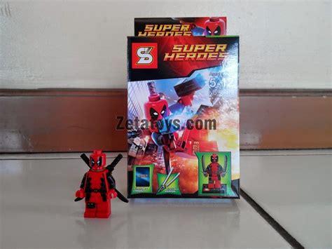 Lego Wolverine Xmen Mainan Anak X Batman Superman Spider mainan anak edukatif lego decool shen yuan superheroes