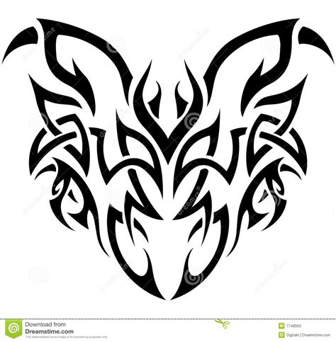 tribal demon in black and white stock photos image 7748063