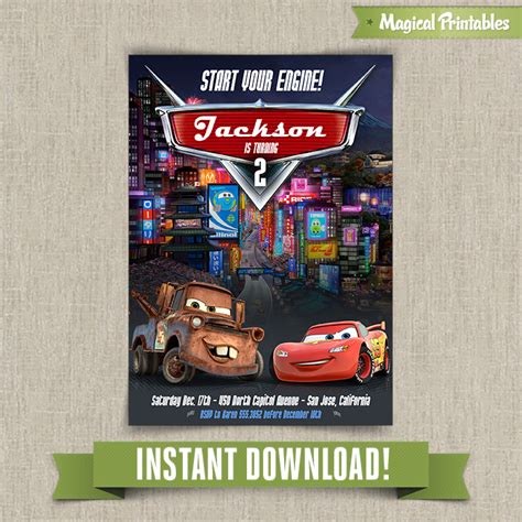 printable birthday cards cars 8 best images of cars 2 printable birthday cards disney