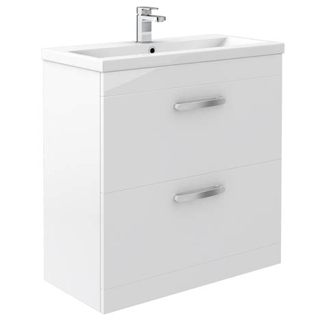 White Drawer Unit by Floor Standing 2 Drawer Vanity Unit At