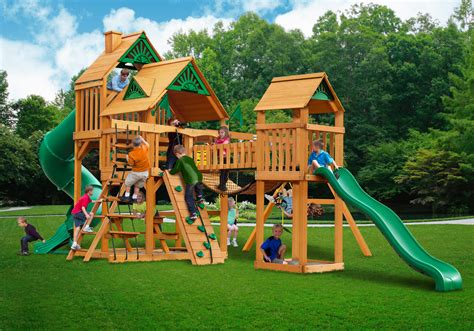 swing sets made in usa treasure trove swing set w wood roof made in u s a