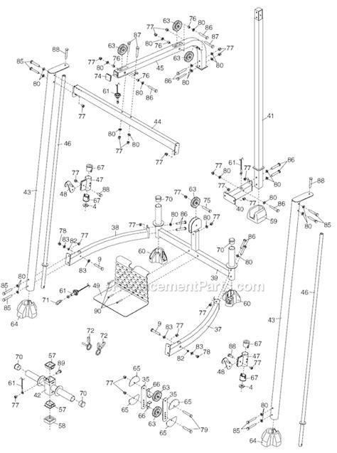proform pfanbe parts list  diagram ereplacementpartscom