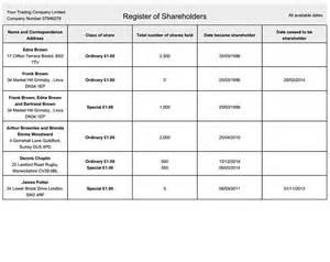 register of members template update statutory registers inform direct