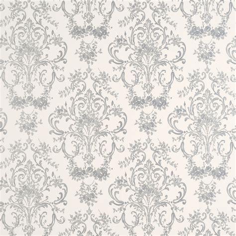 grey large pattern wallpaper aston silver patterned wallpaper at laura ashley