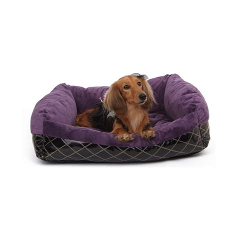purple dog bed puppy angel cozy couch luxury sleeper purple dog beds
