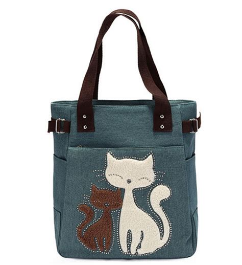 Not A Cat Tote Bag 2016 cat canvas tote bag handbags shoulder bag