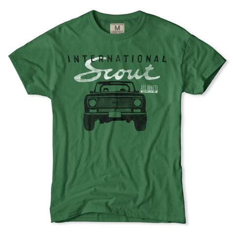 international scout scouts and t shirt on